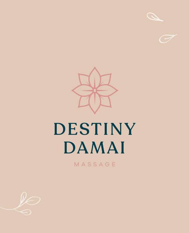 Logo ontwerp Destiny Damai massage salon grafisch ontwerp